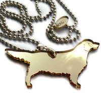 Golden Retriever Necklace,Plexiglas.. on Luulla