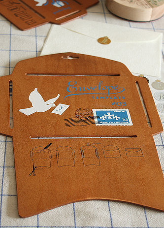 Envelope TemplateWoodenLarge by sugarbsupplies on Etsy