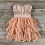 Ruffles & Rust Party Dress, Sweet Wom,,en's Country Clothing