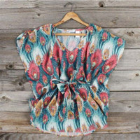 Spun Feathers Blouse, Sweet Country Inspired Clothing