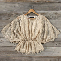 Champagne H mills Lace Blouse, Sweet Country Inspired Clothing