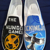 The Hunger Games  Painted Shoes by Nickinverted on Etsy