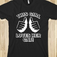 This Girl Loves Her Cat - teeshirttime
