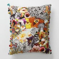 Fringed Botanicals Pillow - Anthropologie.com