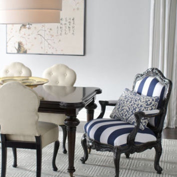 "Barclay Butera Lifestyle - ""Sutter"" Rectangular Dining Table, ""Lita"" Side Chairs, & ""Palomar"" Chair - Horchow"