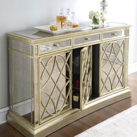"""Amelie"" Three-Door Mirrored Console - Horchow"