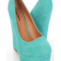 Teal Faux Leather Close Toe Platform Wedges @ Amiclubwear Wedges Shoes Store:Wedge Shoes,Wedge Boots,Wedge Heels,Wedge Sandals,Dress Shoes,Summer Shoes,Spring Shoes,Prom Shoes,Women&#x27;s Wedge Shoes,Wedge Platforms Shoes,floral wedges,Fashion Wedge Shoes,Sex