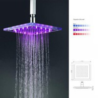 Exquisite Brass LED Shower Head - EXA01 - Sammydress.com