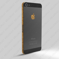 iPhone 5 Sparkling Gold Wrap by kellokult on Etsy