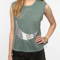 Truly Madly Deeply Hologram Moon Muscle Tee