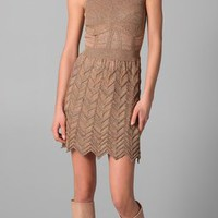 M Missoni Space Dye Chevron Knit Dress