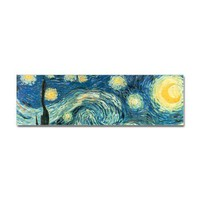 Vincent van Gogh's Starry Night Bumper Sticker by starrynight1- 318891830