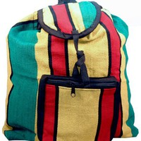 Rasta Jamacian Hippie Backpack