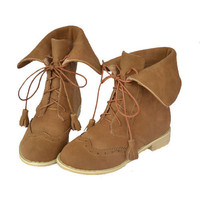 Young Person Style Camel Junior Boots : Wholesaleclothing4u.com