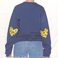 Heart Elbow Sweatshirt, Elbow Heart Sweatshirt, Elbow Patch Sweatshirt, Sunflower Sweater, Studded Collar Sweatshirt