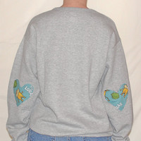 Heart Elbow Sweatshirt, Elbow Heart Sweatshirt, Dr Seuss Sweatshirt, Lorax Sweatshirt, Studded Collar