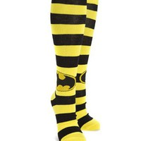 Batman Logo Stripes Knee High Socks
