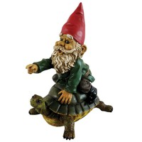 Michael Carr Garrold Gnome On Turtle | Overstock.com