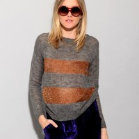 Copper stripe sweater [Aco4122] - $86 : Pixie Market, Fashion-Super-Market