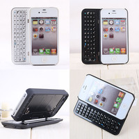 Sliding Bluetooth Wireless Keyboard Hard Case Cover for Iphone4/4s/5