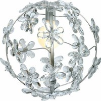 Chloe Sphere Chandelier - Silver by Maura Daniel, Chandeliers, Lighting for Girls