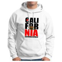 My Associates Store - California Republic Hoodie Hooded Sweatshirt State America CA Pride Steez Swag NorCal SoCal Bear Flag Pride USA Retro Vintage Trucker Funny Old School Hoodie Sweatshirt