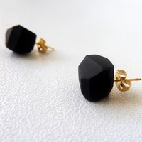 black geo earrings ($22.00)