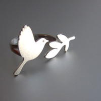Peace Bird - Handmade Silver Ring | SmilingSilverSmith handmade silver ring & jewelry