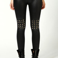 Casey Studded Spike Knee Leggings