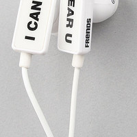 The Clip I Cant Hear U Ear Buds in White : Frends Headphones