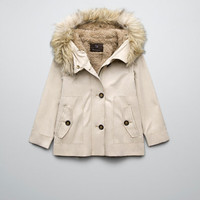 PARKA WITH DETACHABLE SHEEPSKIN LINING - Coats - Girl (2-14 years) - Kids - ZARA United States