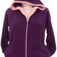 Amazon.com: Warm & Cozy Plus Size Polar Fleece Hoodies (1x, Purple): Clothing