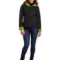 Amazon.com: Kristen Blake Women's Hooded Button Front Jacket: Clothing