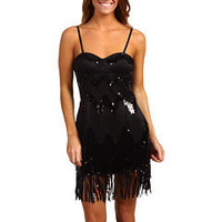 LaROK Night Fringe Dress Black - 6pm.com