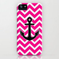 Magenta Zigzag Pattern Chevron Anchor iPhone Case by Rex Lambo | Society6