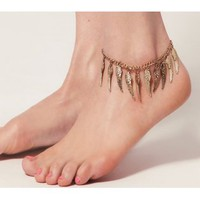 Bronze Angel Wing Chain Anklet