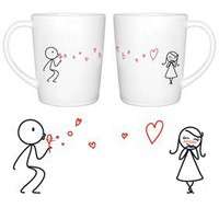 Amazon.com: BoldLoft &quot;From My Heart to Yours&quot; Couple Coffee Mugs-Romantic Valentine&#x27;s Day Gifts for Couples,Cute Valentines Gifts for Him or Her,Romantic Anniversary Gifts: Kitchen &amp; Dining
