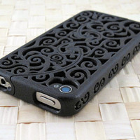 Designer iPhone 4S &amp; 4 Victorian Filigree by CWestbrookDesigns
