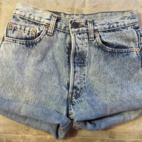 Acid wash Levi 501 shorts [28/2] from Live Harmlessly
