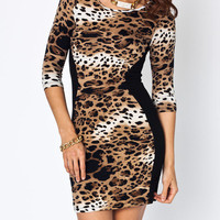 leopard-print-optical-illusion-dress CAMELBLACK - GoJane.com