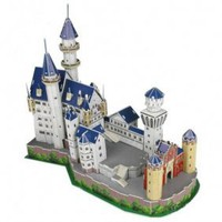 CUBICFUN Intellectual Development DIY 3D Paper Puzzle Set - Neuschwanstein Castle - &amp;#36;21.33