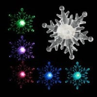 LED Color Changed Snowflake Suction Cup Light Christmas Decor 900445-LS-0047 - &amp;#36;6.39