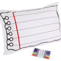 Doodle by Stitch 200 Thread Count Pillowcase/Pen Set, Standard, White