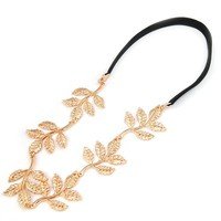 New Fashion Gold Leaf Festival Grecian Garland Hippy Forehead Head Hair Band