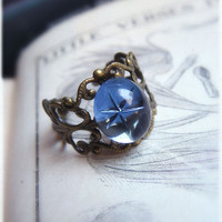 Ring Wandering Star Victorian inspired adjustable by lePetitFoyer