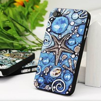 Cool iPhone 4 / 4s Case with Embossment - The Ocean