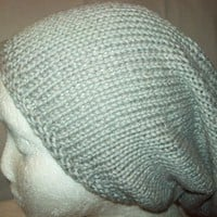 Dove Gray Big Slouchy Hat, Baggy Slouch Soft, Cotton Blend
