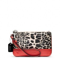 Coach :: Legacy Ocelot Print Small Wristlet