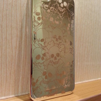 SILVER Chrome SKULL Head Crystal Clear Transparent Hard Back Case Cover For iPhone 5 iPhone 5, Smartphone iPhone Case, Skeleton Head  Cover