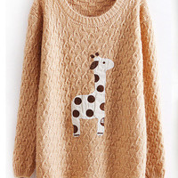 Lovely dots giraffe sweater-EMS from ClothLess